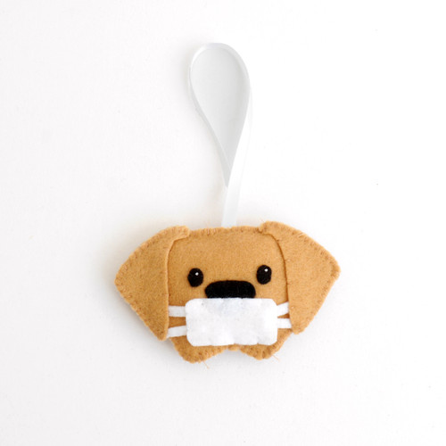 Face Mask Dog Ornament
