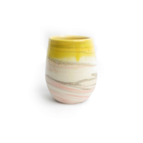 Bright Lemon Yellow Wine Cup