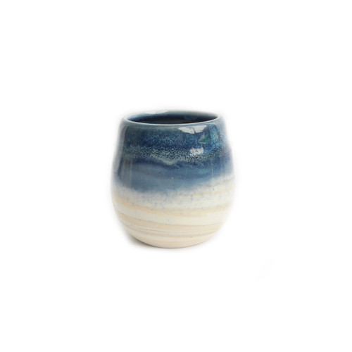 Meditative Midnight Blue Wine Cup