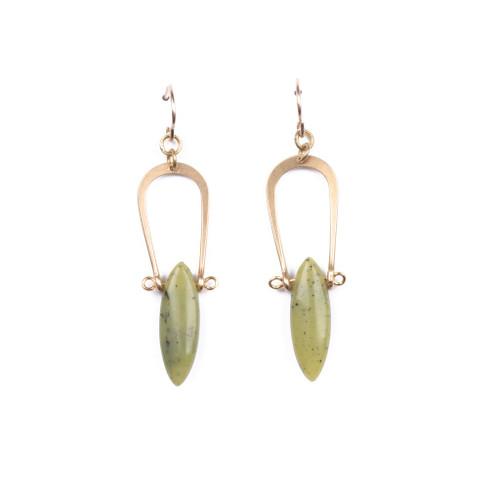 Serpentine Amulet Earrings