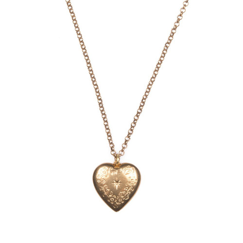 Floral Heart Charm Necklace