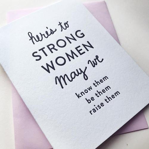 Strong Women Card