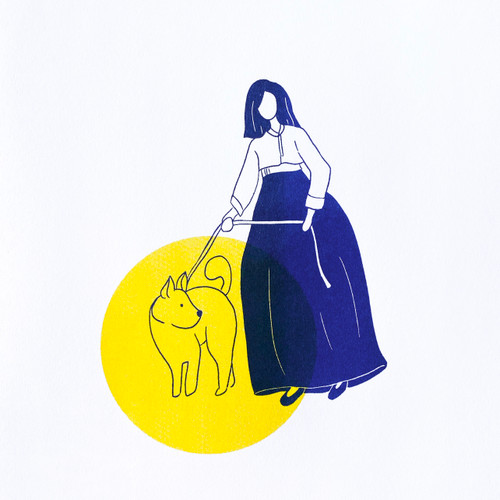 Dog Lady 8x10 Print