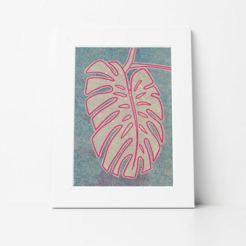 Foliage IX Mono Print 8x10 Matted