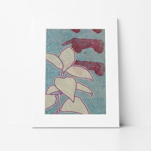 Botanical III Mono Print 8x10 Matted