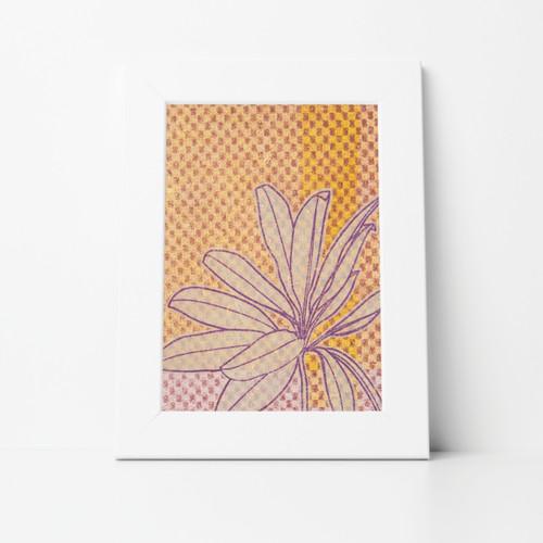 Flower III Mono Print 8x10 Matted