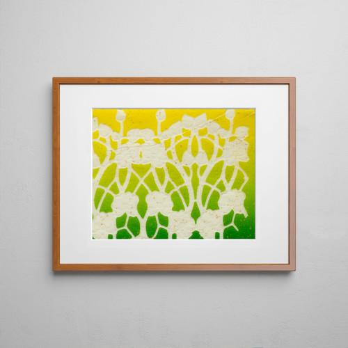 Untitled III Mono Print 11x14 Matted