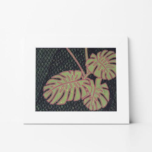Foliage IV Mono Print 11x14 Matted