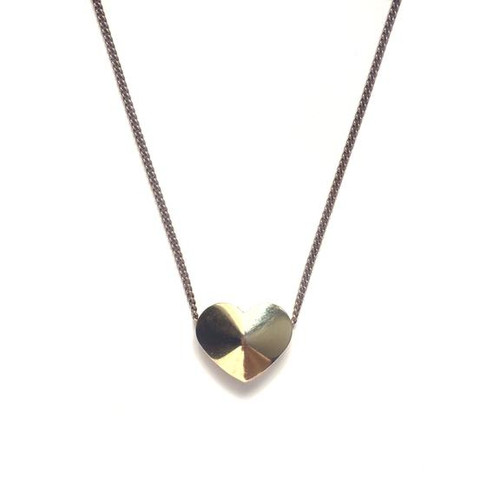 Vintage Heart Slider Necklace