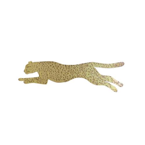 Cheetah Brass Bookmark