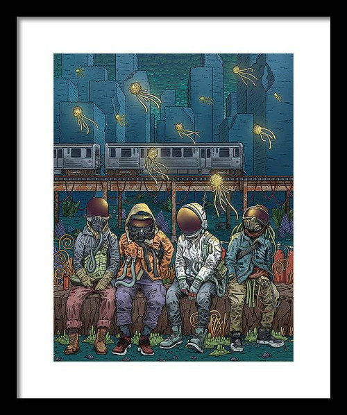 City Lights 12x16 Framed Art Print
