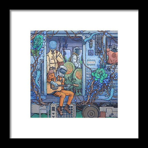 City Train Adventure Framed 8x8 Art Print
