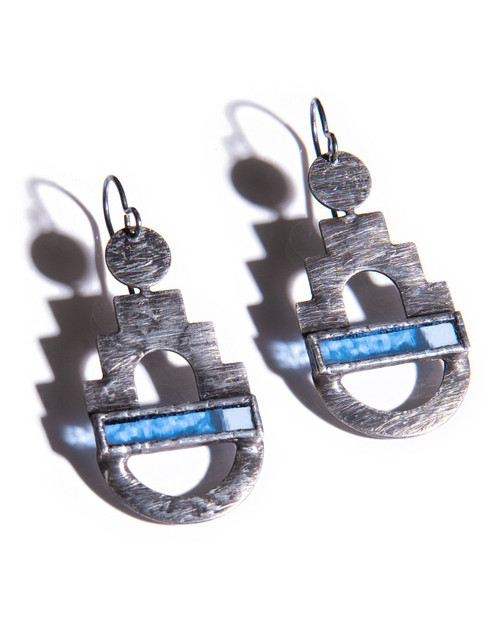 Citadel Earrings in Periwinkle