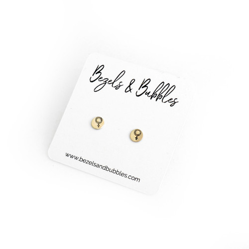 Female Symbol Mini Stud
