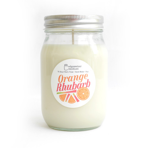 Orange Rhubarb Candle