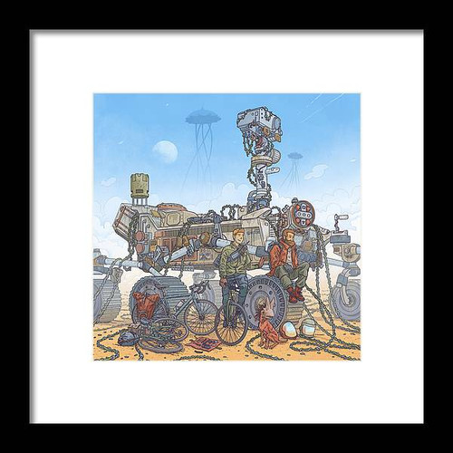 Rover Ruins Ride Framed 8x8 Art Print
