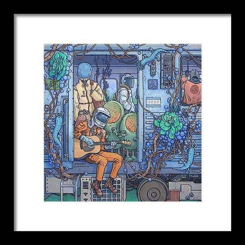City Train Adventure Framed 10x10 Art Print