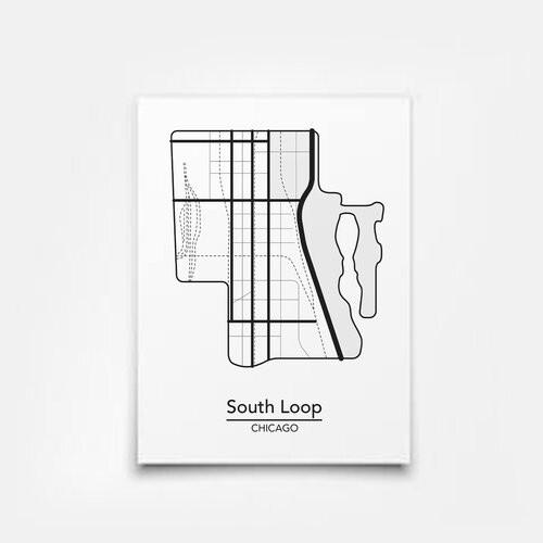 South Loop Map 5x7