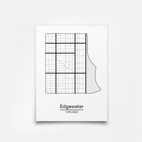 Edgewater Map 5x7