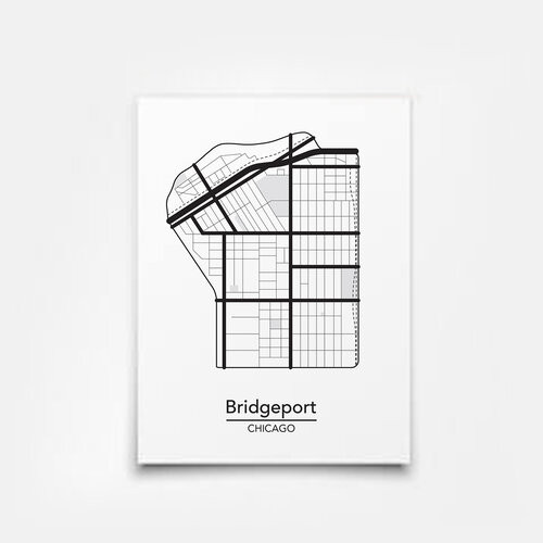 Bridgeport Map 5x7