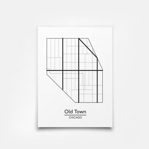 Old Town Map 5x7