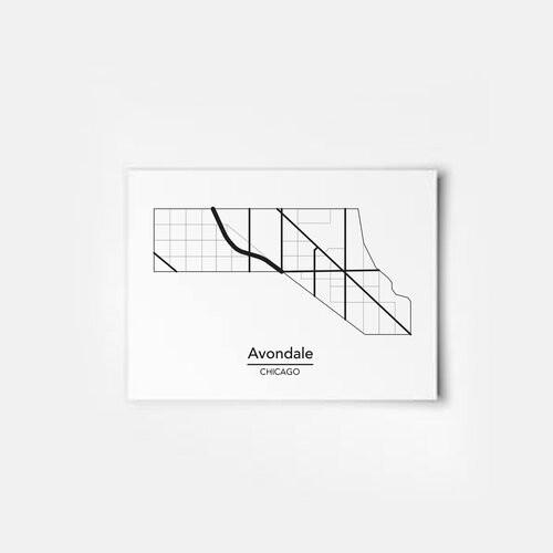 Avondale Map 5x7