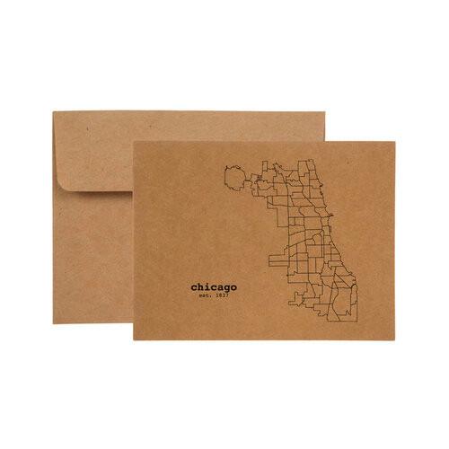 Chicago Neighborhood Map Card