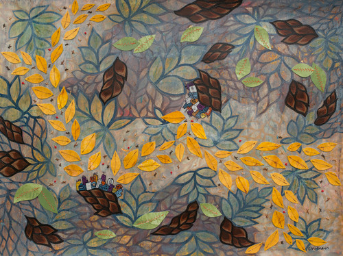 Visiting Artist Series Leave Trails (Autumn) 18x24 Painting