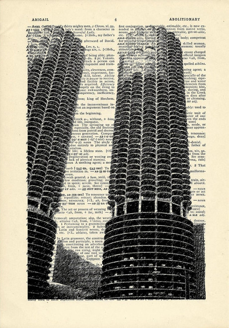 Marina City Dictionary Print
