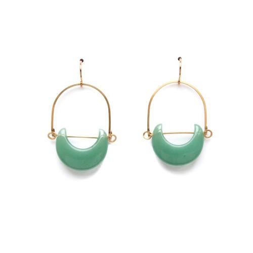 Green Aventurine Eclipse Earrings