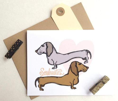 Dog Soulmates Card