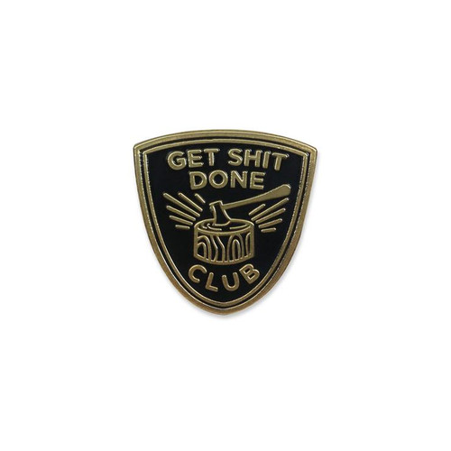 Get Shit Done Club Lapel Pin