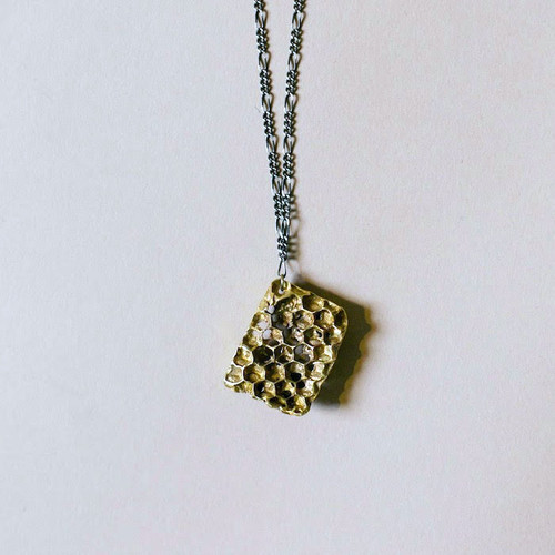 Large Bronze Honeycomb Necklace