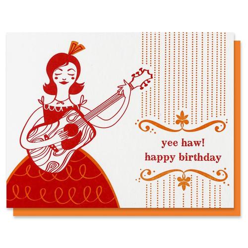 Yee Haw Happy Birthday Card