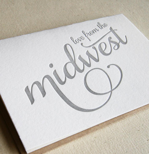 Love From Midwest card