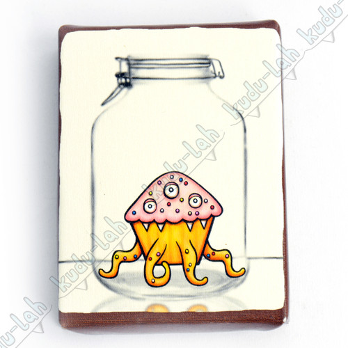 Sprinkle Mason Jar Critter Print On Canvas