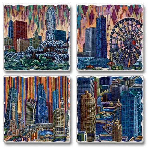 Chicago Coasters - set of 4