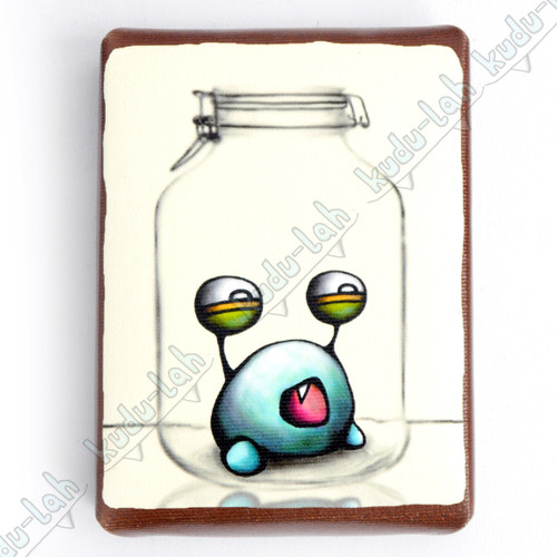 Plumb Mason Jar Critter Print On Canvas