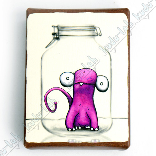 Albee Mason Jar Critter Print on Canvas