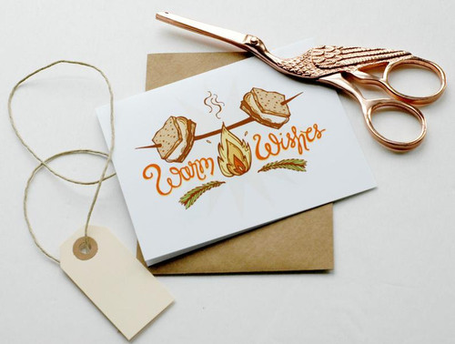Warm Wishes Smores Card