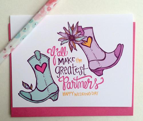 Boot Partners Wedding Card