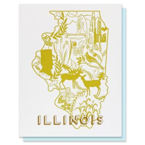 Illinois Letterpress Card