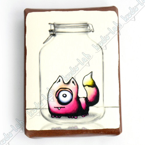 Moxie Mason Jar Critter Print On Canvas