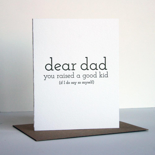 Dad Good Kid Card