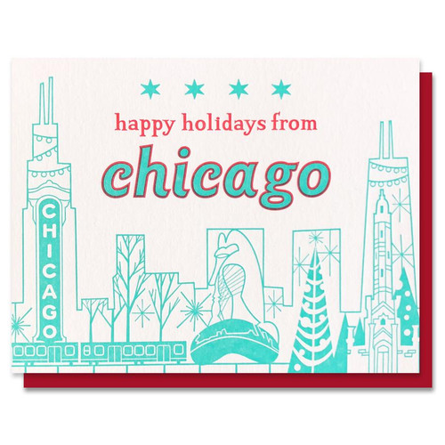 Happy Holidays Chicago Card