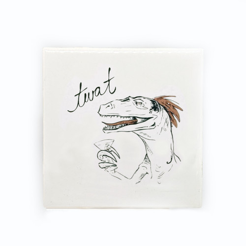 Dirty Dishes Velociraptor Dinosaur Coaster