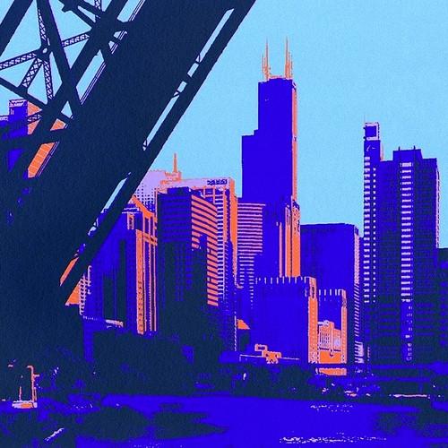 A view from Kinzie Street Bridge