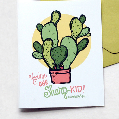 Sharp Kid Graduation Greeting Card