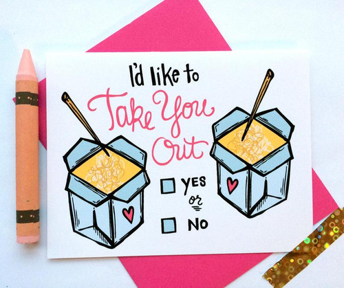 Take You Out Valentine's card