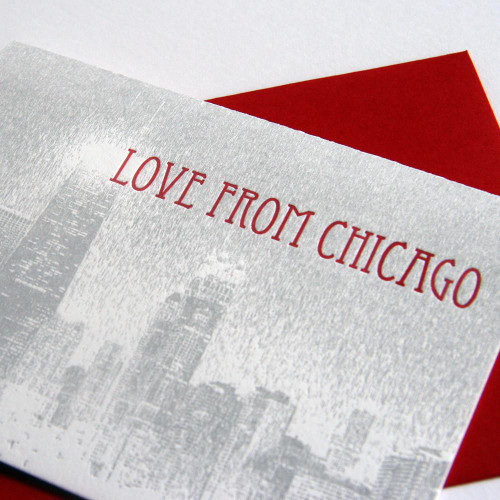 Love from Chicago skyline